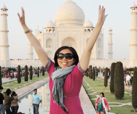 Me, jumping at Taj Mahal. See more photos on Facebook.