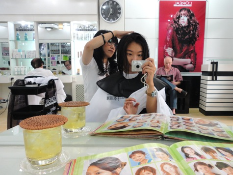 Haircut, Saigon (HCMC), Vietnam New Year