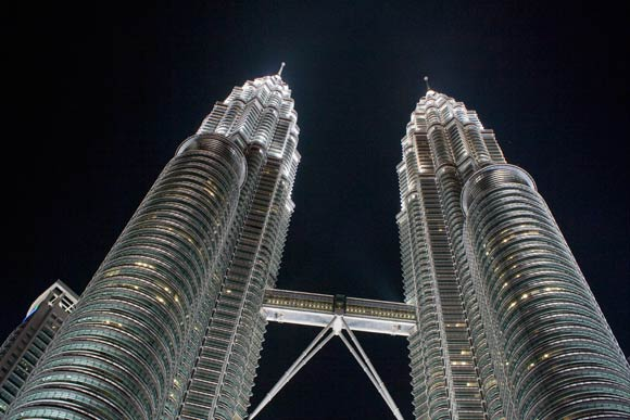 Petronas Twin Towers, Kuala Lumpur (once the tallest building in the world)