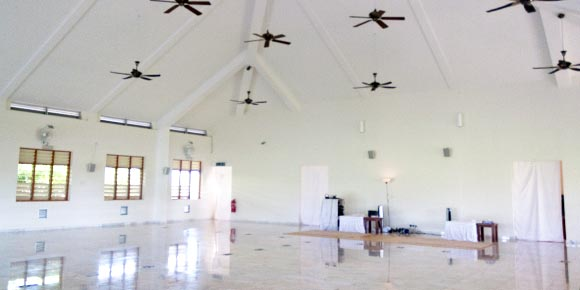 Inside meditation hall, Vipassana centre, Malaysia