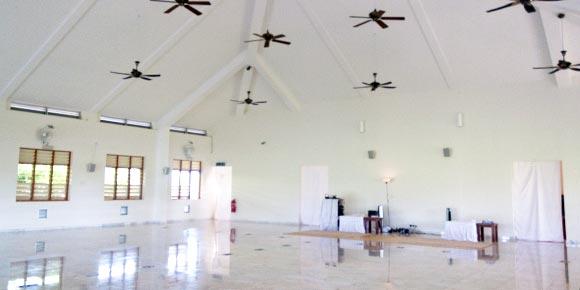 Inside meditation hall, Vipassana centre, Malaysia