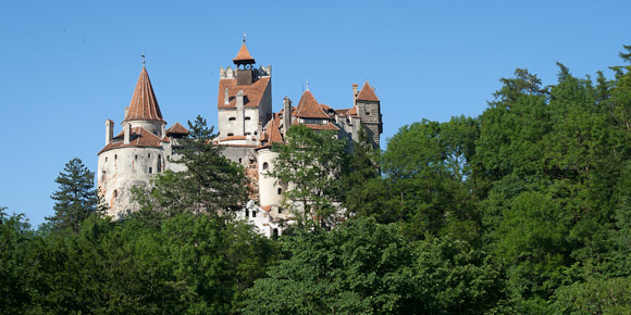 Dracula Castle from below, Transylvania