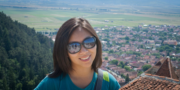 Lily Leung - view from top of Rasnov Citadel, Transylvania