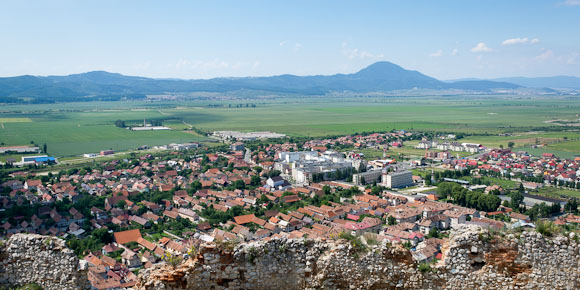 Rasnov town, view from top of Rasnov Citadel, Transylvania