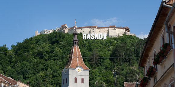 Rasnov Citadel and Hollywood sign