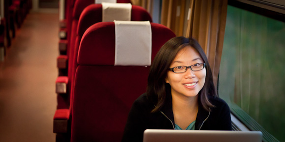 Lily Leung - Romania 1st class train to Budapest