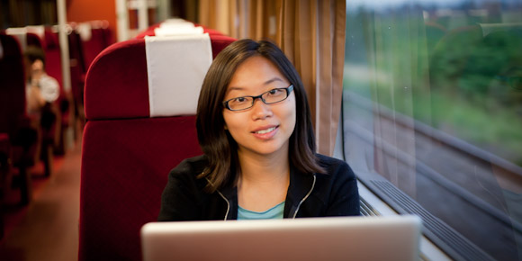 Romania 1st class train - Lily Leung
