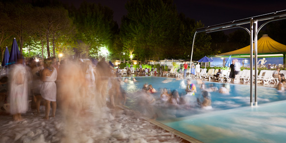 Eurail party, PLUS Hotel Venice, foam and pool party