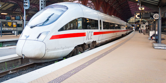 German ICE Intercity Express train, Copenhagen station