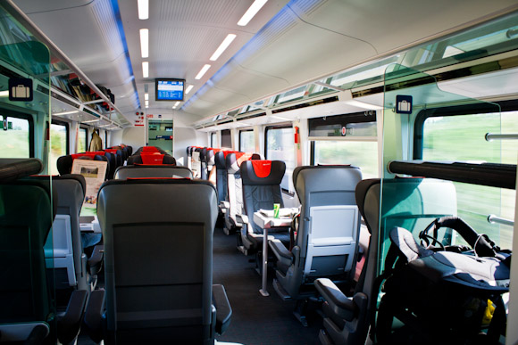 Austria Railjet train - 1st class
