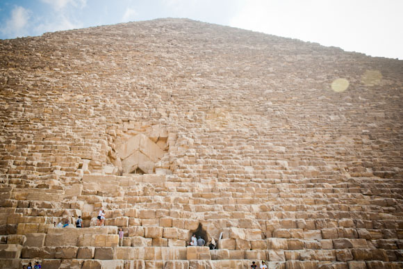 View of Great Pyramid from the bottom