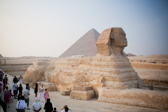 The Great Sphinx of Giza at sunset