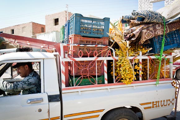 Egypt truck with dates