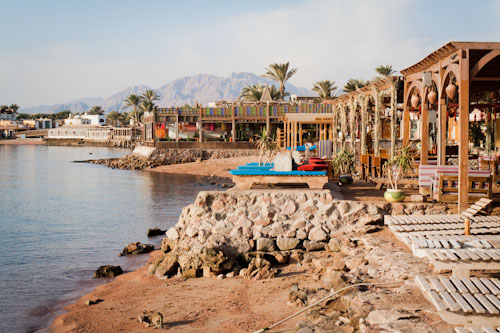 A long wait for the bus to Dahab