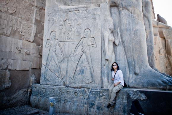 Luxor Temple statue, Luxor, Egypt