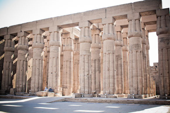 Hall of Luxor Temple, Luxor, Egypt