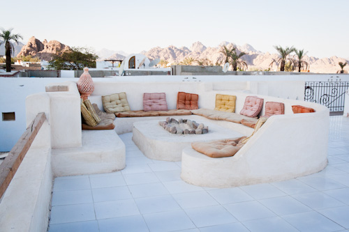 Sinai Old Spices roof top sitting area.