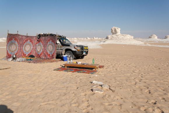 White desert camp area