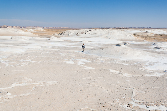 Walking in the White Desert, Egypt
