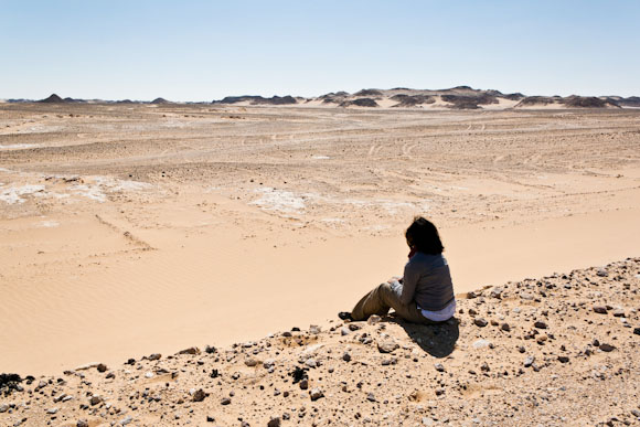 Sitting on the side of the desert road