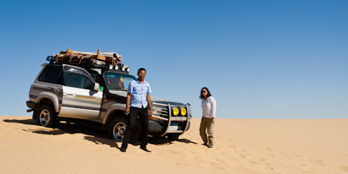 Sand dune, 4WD, White Desert, Egypt