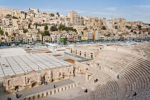 Roman Theatre in Downtown Amman, Jordan