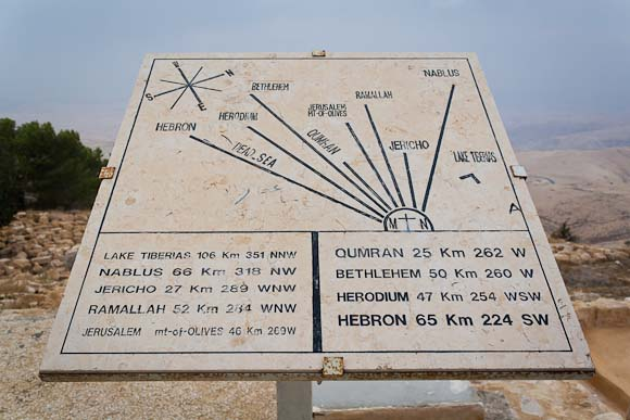 Mount Nebo, view of the 'promised land'