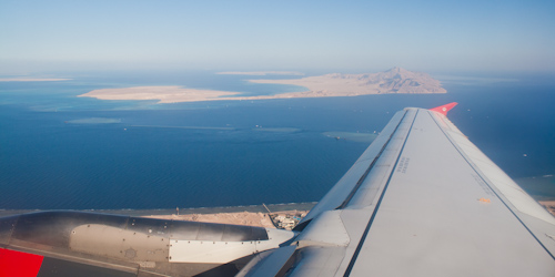 Flight over the Red Sea