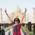 Jumping at Taj Mahal, India