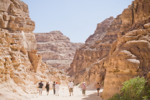 Hiking in the Colored Canyon near Dahab, Egypt