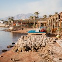 Beachside cafes in Dahab, Egypt