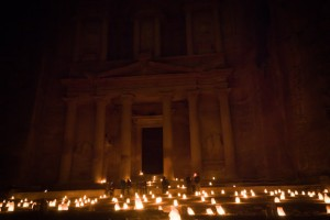 Petra at night before rain, Jordan