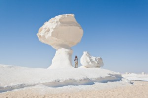 Rock formations in the White Desert, Egypt